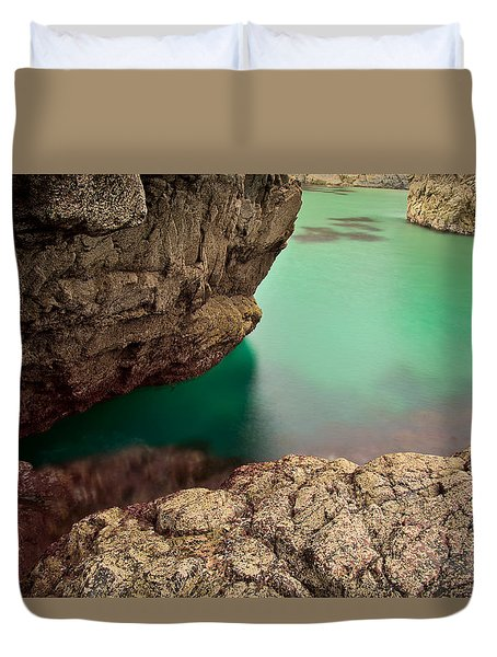 Kynance Cove Cornwall Duvet Cover