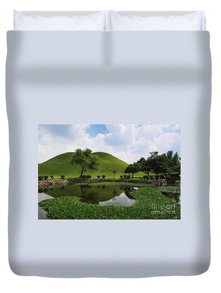 Kyongju, Tumuli Park Duvet Cover
