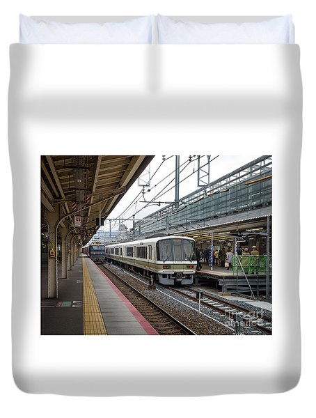 Kyoto To Osaka Train Station, Japan Duvet Cover