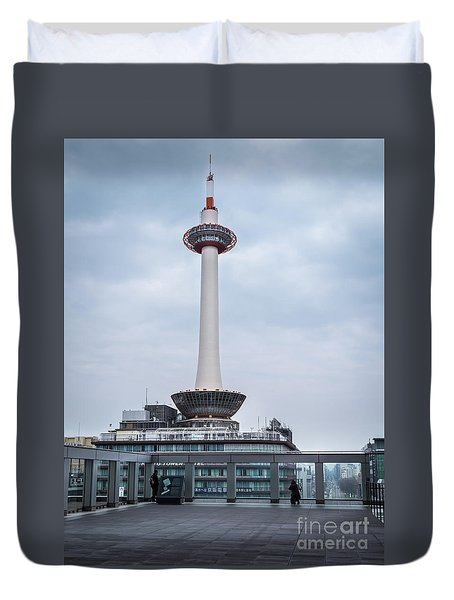 Kyoto Tower, Japan Duvet Cover