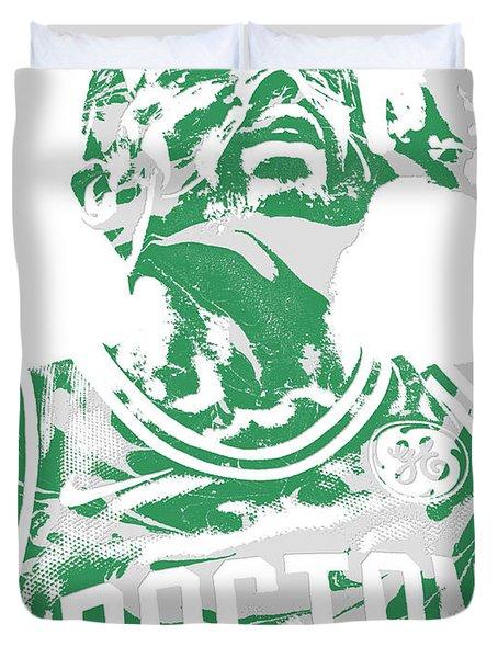 Kyrie Irving Boston Celtics Pixel Art 41 Duvet Cover