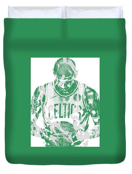 Kyrie Irving Boston Celtics Pixel Art 5 Duvet Cover