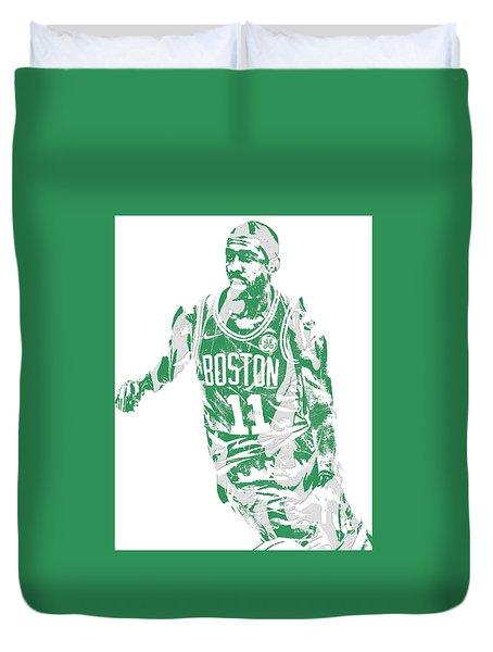 Kyrie Irving Boston Celtics Pixel Art 6 Duvet Cover