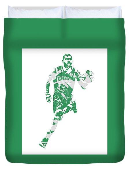 Kyrie Irving Boston Celtics Pixel Art 60 Duvet Cover