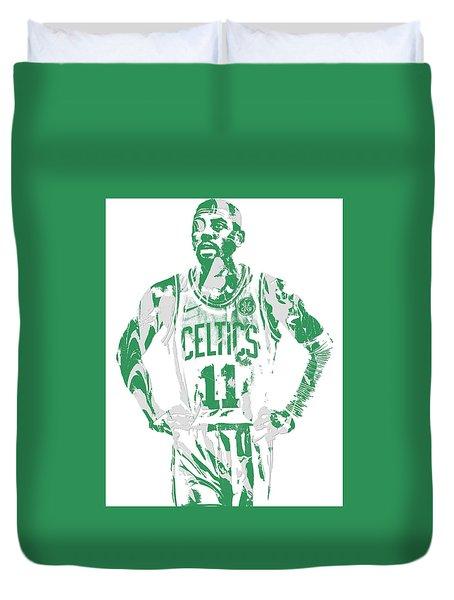 Kyrie Irving Boston Celtics Pixel Art 8 Duvet Cover
