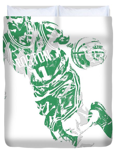 Kyrie Irving Boston Celtics Pixel Art 9 Duvet Cover