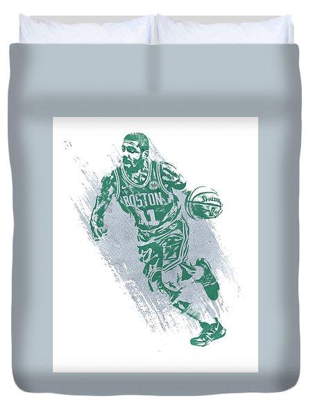 Kyrie Irving Boston Celtics Water Color Art 2 Duvet Cover