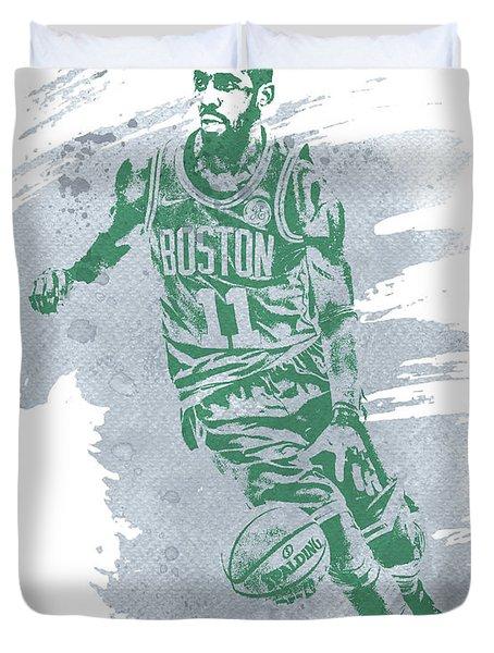 Kyrie Irving Boston Celtics Water Color Art 3 Duvet Cover