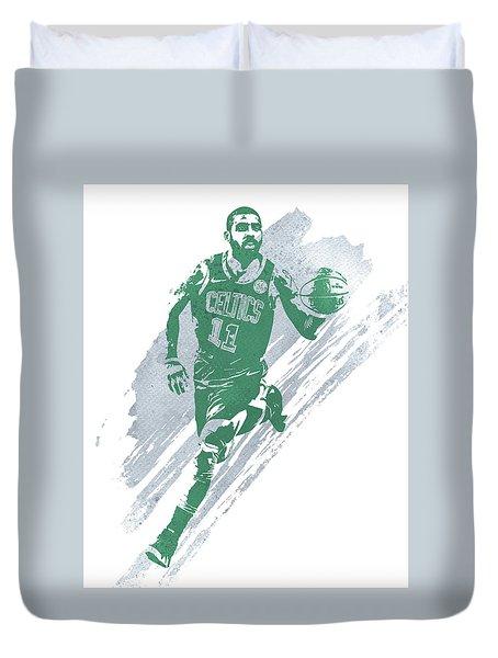 Kyrie Irving Boston Celtics Water Color Art 4 Duvet Cover