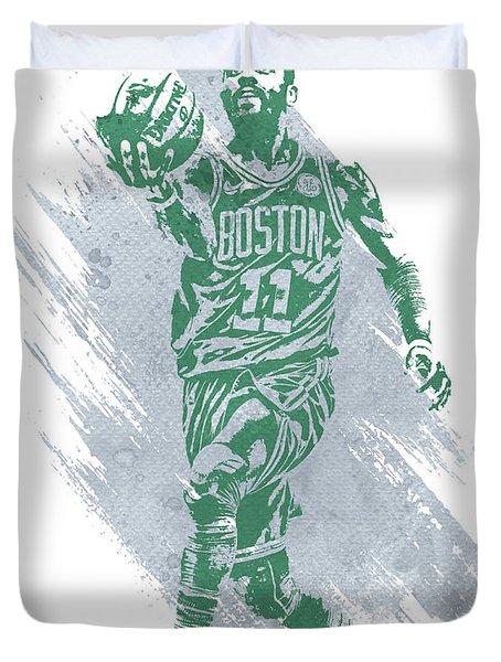 Kyrie Irving Boston Celtics Water Color Art Duvet Cover