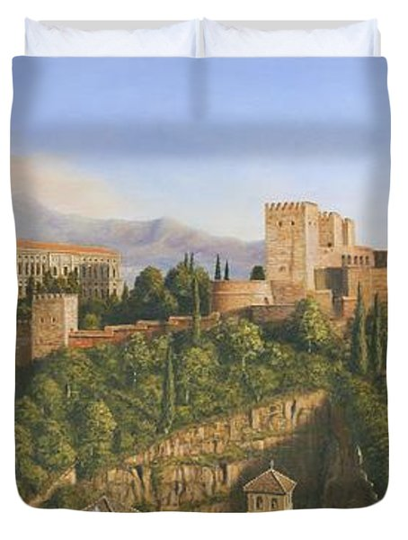 La Alhambra Granada Spain Duvet Cover by Richard Harpum