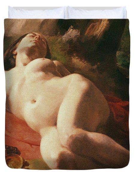 La Bacchante Duvet Cover by Gustave Courbet