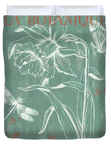 La Botanique Aqua Duvet Cover