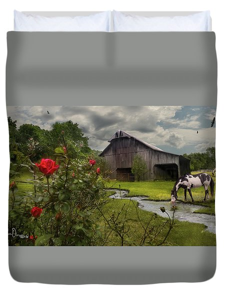 Duvet Cover featuring the photograph La Buena Vida by Don Olea