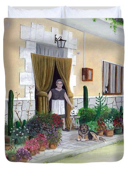La Casa De Nonna Loreta Duvet Cover