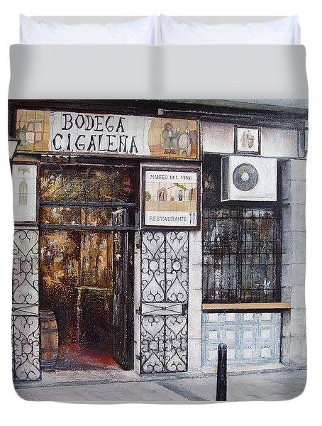 La Cigalena Old Restaurant Duvet Cover by Tomas Castano