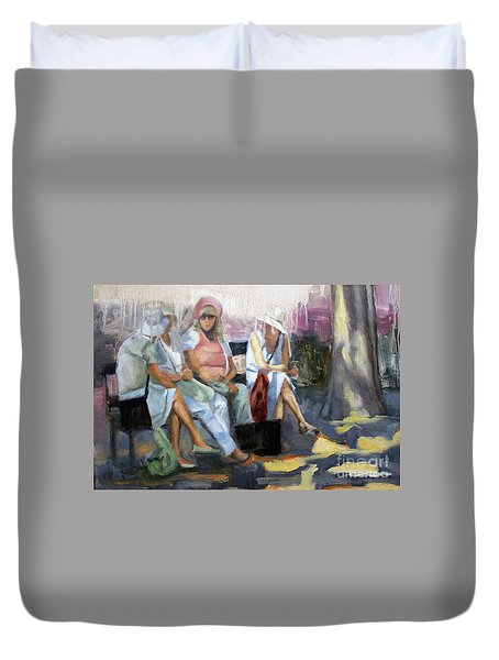 La Conversation Duvet Cover