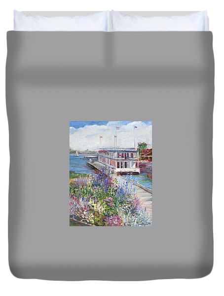 Duvet Cover featuring the painting La Duchesse by Jan Byington