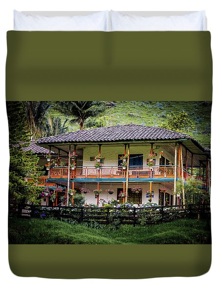 La Finca De Cafe - The Coffee Farm Duvet Cover