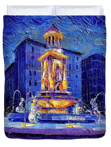 La Fontaine Des Jacobins Duvet Cover