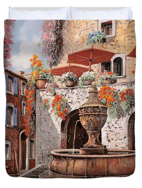 la fontana a St Paul de Vence Duvet Cover