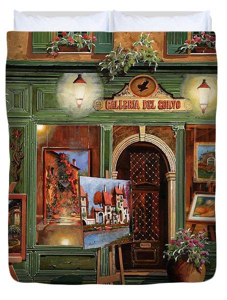 La Galleria Del Corvo Duvet Cover