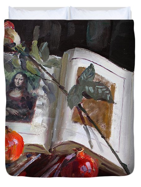 La Gioconda  Duvet Cover by Ylli Haruni