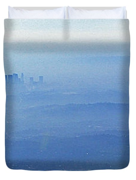 La In Smog Duvet Cover