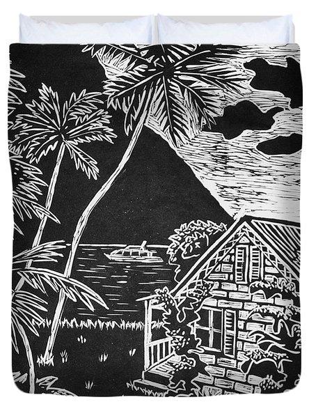 La Isla Santa Lucia Duvet Cover