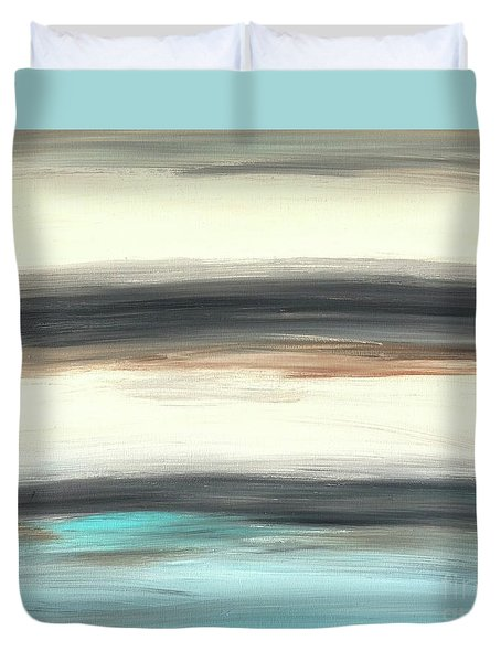 La Jolla #2 Seascape Landscape Original Fine Art Acrylic On Canvas Duvet Cover