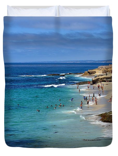 La Jolla Beach Duvet Cover