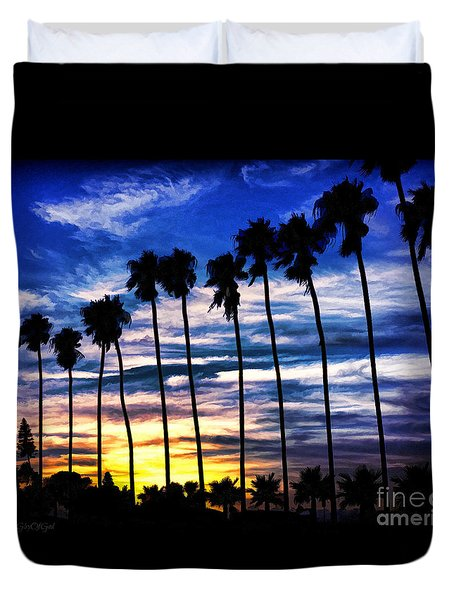 La Jolla Silhouette - Digital Painting Duvet Cover