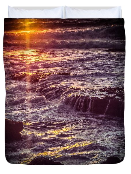 La Jolla Sunset Duvet Cover