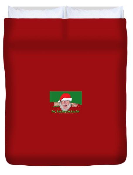 La La La Christmas Duvet Cover