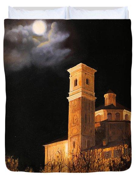 la luna a Cherasco Duvet Cover