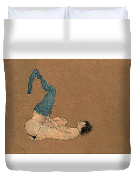 La Lutte Duvet Cover by Antonio Ortiz