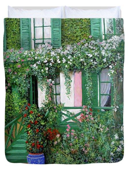 La Maison De Claude Monet Duvet Cover