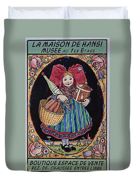 La Maison Hansi Poster Duvet Cover