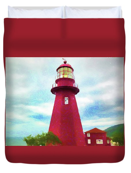 La Martre Lighthouse Duvet Cover