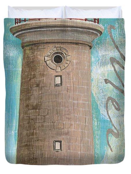 La Mer Lighthouse Duvet Cover