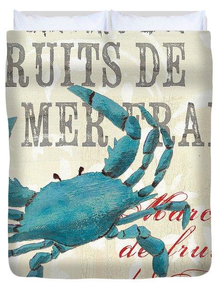 La Mer Shellfish 1 Duvet Cover by Debbie DeWitt
