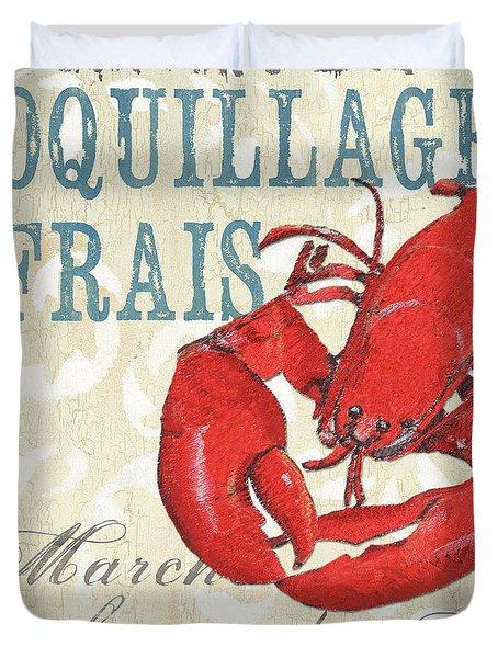 La Mer Shellfish 2 Duvet Cover by Debbie DeWitt