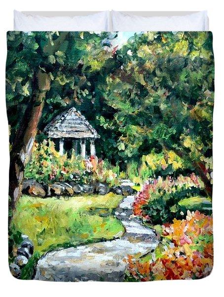 La Paloma Gardens Duvet Cover