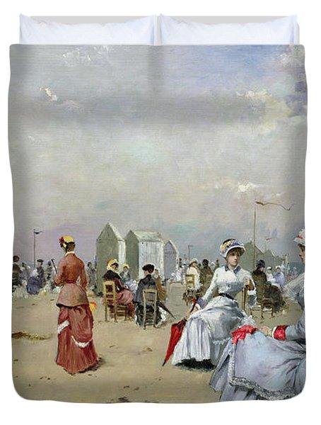 La Plage De Trouville Duvet Cover by Paul Rossert