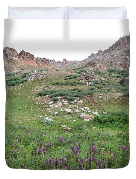 Duvet Cover featuring the photograph La Plata Peak by Cascade Colors