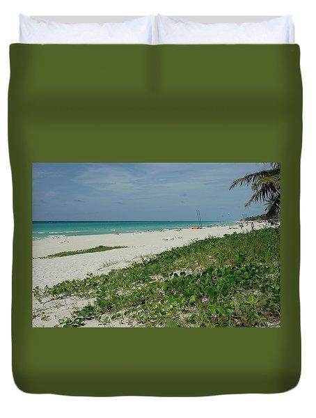 La Playa Mas Hermosa Duvet Cover