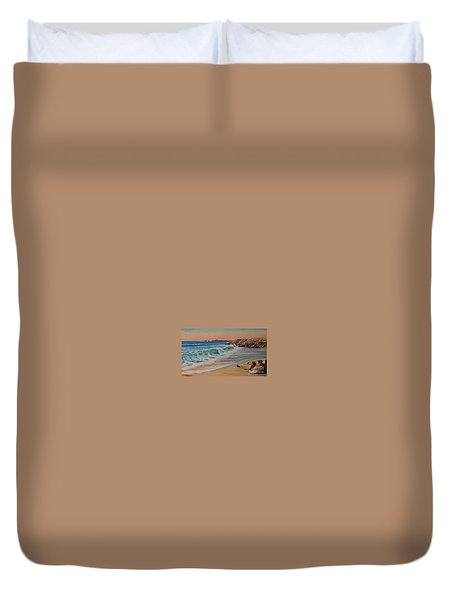 La Pointe Du Raz, Bretagne, France Duvet Cover