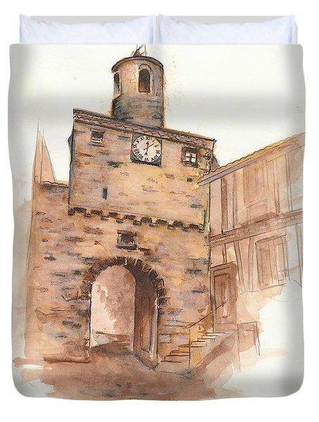 la Porte de l'Horloge Duvet Cover