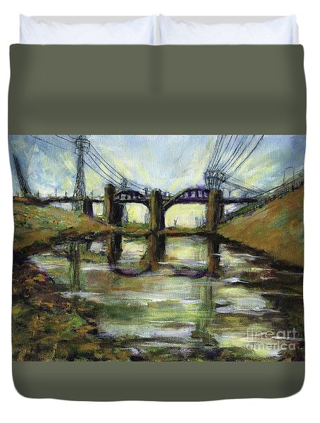 La River 6th Street Bidge Duvet Cover