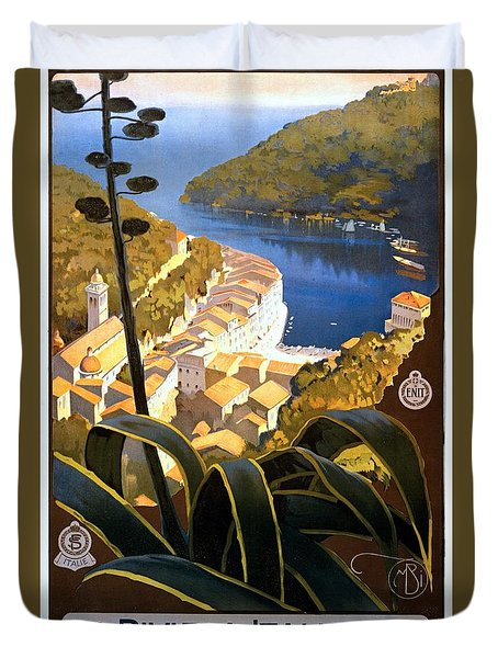 La Riviera Italienne, Travel Poster For Enit, Ca. 1920 Duvet Cover